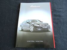 2011 Mercedes LORINSER S-class Catalog W221 S550 S600 Spoilesr & Wheels Brochure