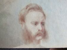 19TH C. SIR EDWIN HENRY LANDSEER DOUBLE SIDED PORTRAIT DRAWING OLD MASTER