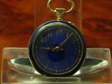 Maurice Ditisheim 14kt 585 Gold Open Face Taschenuhr inkl. 14kt. Gold Brosche