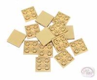 LEGO New Tan 15-pcs 3-Buck Bag 2x2 Tile w// Studs On Bottom