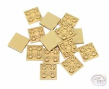 LEGO - 3-Buck Bag - 2x2 Tile w/ Studs On Bottom - 15-pcs - Tan - New