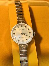 Vintage Gruen 17Jewels Swiss Ladies Mechanical Windup Wrist Watch N.O.S(087M)
