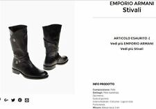 Emporio Armani 100% Leather High Biker Boots 40 IT/ 7UK
