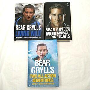 Bear Grylls Book Collection - Living Wild/Extreme Food/Born Survivor