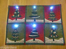 Nouveauté Fête Arbre de Noël clignotant tableau napperons avec lumières led