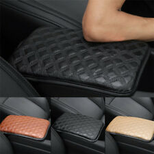 Car Armrest Cover Pad Center Console Box Leather +Sponge Black Universal