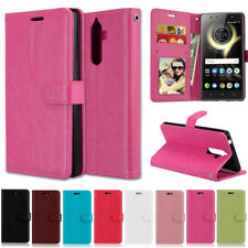 Three Card Wallet Leather Skin Flip Cover Case For Lenovo K5 Note A6000 C2 P70T