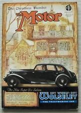 The MOTOR MAGAZINE 24 Dec 1935 CHRISTMAS No Wolseley Six Cover