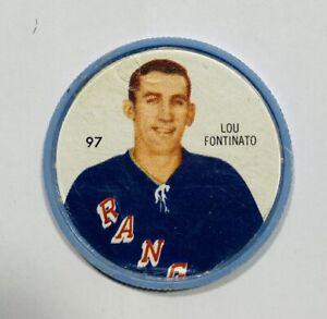 SHERRIFF Hockey Coins LOU FONTINATO Coin #92 New York Rangers
