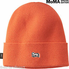 KEITH HARING x UNIQLO 'Baby' Knit Beanie / Cap / Hat SPRZ NY MoMA Orange **NWT**
