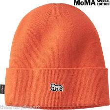 KEITH HARING x UNIQLO 'Baby' Knit Beanie / Cap / Hat SPRZ NY MoMA Orange **NWT**