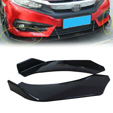 Black Winglet Side Lip Splitter Wing For Front Bumper Splitter Diffuser Car SUV