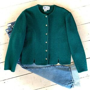 Vintage Retro 1980's Pure Wool Cropped Jacket Size