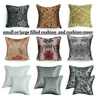 New Luxury Jacquard Cushion Covers & Filled Cushions 18x18 Small OR 23x23 Large