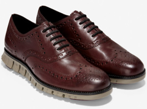 Cole Haan ZeroGrand Wingtip Oxford C30279 Burnished Wine Leather Sizes 8-12