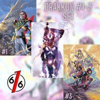 🚨💥 POWER RANGERS DRAKKON NEW DAWN #1 #2 #3 VARIANT SET OF 3 Morris & Laren NM