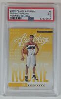 Rui Hachimura 2019-20 Panini Absolute Memorabilia Yellow Rookie Card RC PSA 5