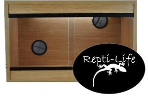 Repti-Life Vivarium 24x15x15 in Beech, 2ft vivarium
