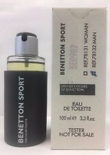 Benetton Sport by Benetton 3.3 oz  EDT  Men's cologne  new tester