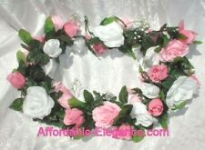 Wedding Cake Table Flower Garland 4ft Fountain Ring Topper Artificial Silk Roses
