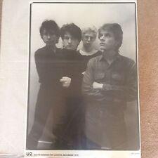 Huge 1979 U2 Photo by Paul Slattery Kensington Rock Pop Music Poster Memorabilia