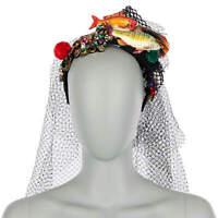 DOLCE /& GABBANA Headband Hairband Crown Tiara with Crystals Flower Pink 06358