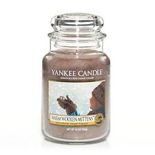 Yankee Candle FESTIVE NEW WARM WOOLEN MITTENS LRG 22 OZ LEMON APPLE LILY MUSK