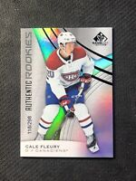 2019-20 SP GAME USED CALE FLEURY AUTHENTIC ROOKIE RAINBOW FOIL #ed 118/298