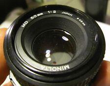 Minolta MD 50mm f/2 Stock Lens X-700 X-370 X-570 SRT 200 201 202 101 XD11 XD5