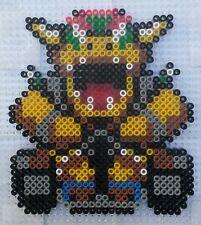 Bowser kart (Mario) - Bead sprite perler pixel art - Perles à repasser