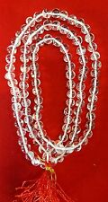 Quality Sphatik /Crystal Quartz Mala 5 MM Round 108+1 Beads (Spiritual&Healing)