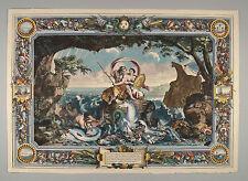 Allegorischer Gobelin Entwurf für Louis XIV Wasser Water by Le Brun 1680 Clerc