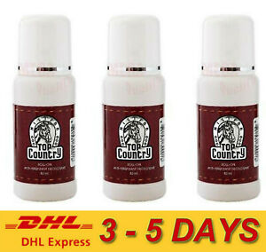 3 x Mistine Top Country Roll on Anti-Perspirant Classic Deodorant for Men 80ml.