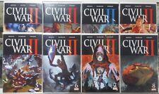 CIVIL WAR II # 0 1 2 4 5 6 7 8 - Bendis Coipel Ponsor - Marvel Comics 2016 VF+ @