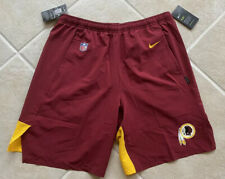 Washington Redskins Nike Player On Field Shorts Mens Red Large $85