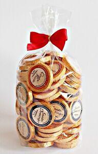 50 DreiMeister Edelschokoladen 6 Sorten Golddublonen Cellobeutel rote Schleife
