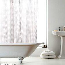 New Modern Designer PEVA Bathroom Shower Curtain with 12 Hooks 180cm x 180cm