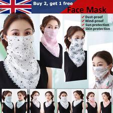 Unisex Breathable Triangle Bandana Half Face Mask Neck Cover Scarf Men Women UK