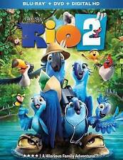 RIO 2 (Blu-ray/DVD,2014, Includes Digital Copy) NEW