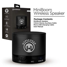NEW HyperGear MiniBoom Wireless Speaker w/Hands Free Calling - Black