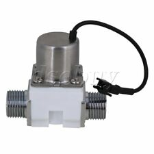 """1/2"""" Electric Solenoid Valve Magnetic DC6V Water Inlet Flow Pulse Valve White"""