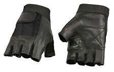 Milwaukee Leather  Men's Leather & Mesh Fingerless Gloves W/ Gel Palm  **SH217