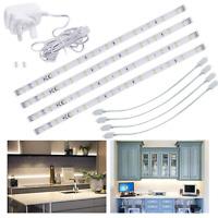 LED Under Kitchen Cupboard/Cabinet Strip Lights, Linkable Plug in Light Bars for