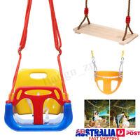 Full/Half Bucket Baby Kids Swing Seat Garden Outdoor Play Toys Set Heavy Duty