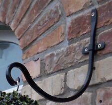 4 Negros Metal De Diseño Cesta Colgante Artificial Bola Topiaria Soportes