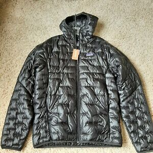 New Patagonia Men's Micro Puff Hoody Jacket north arc Large Black
