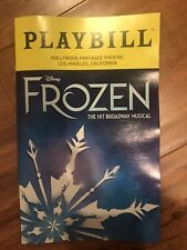 Disney FROZEN PLAYBILL Hit Broadway Musical Hollywood Pantages Theatre Dec 2019