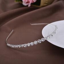 Bridal Bridesmaid Diamante Crystal Rhinestone Headband Wedding Prom Hairband