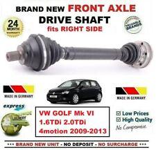 FOR VW GOLF VI 1.6TDi 2.0TDi 4motion 2009-2013 NEW FRONT AXLE RIGHT DRIVESHAFT