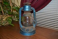Old Vintage Lantern- Blue with clear glass- Dietz
